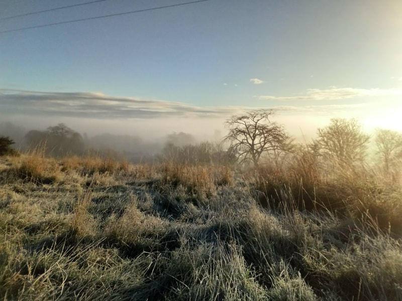 Frosty morning view over Great Glen